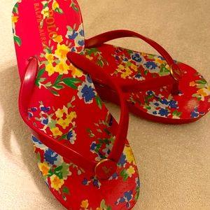 Ralph Lauren floral flip flops.